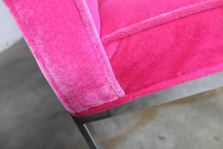 Hot Pink and Chrome Dining Chairs American of Martinsville, Mid-Century Modern 4