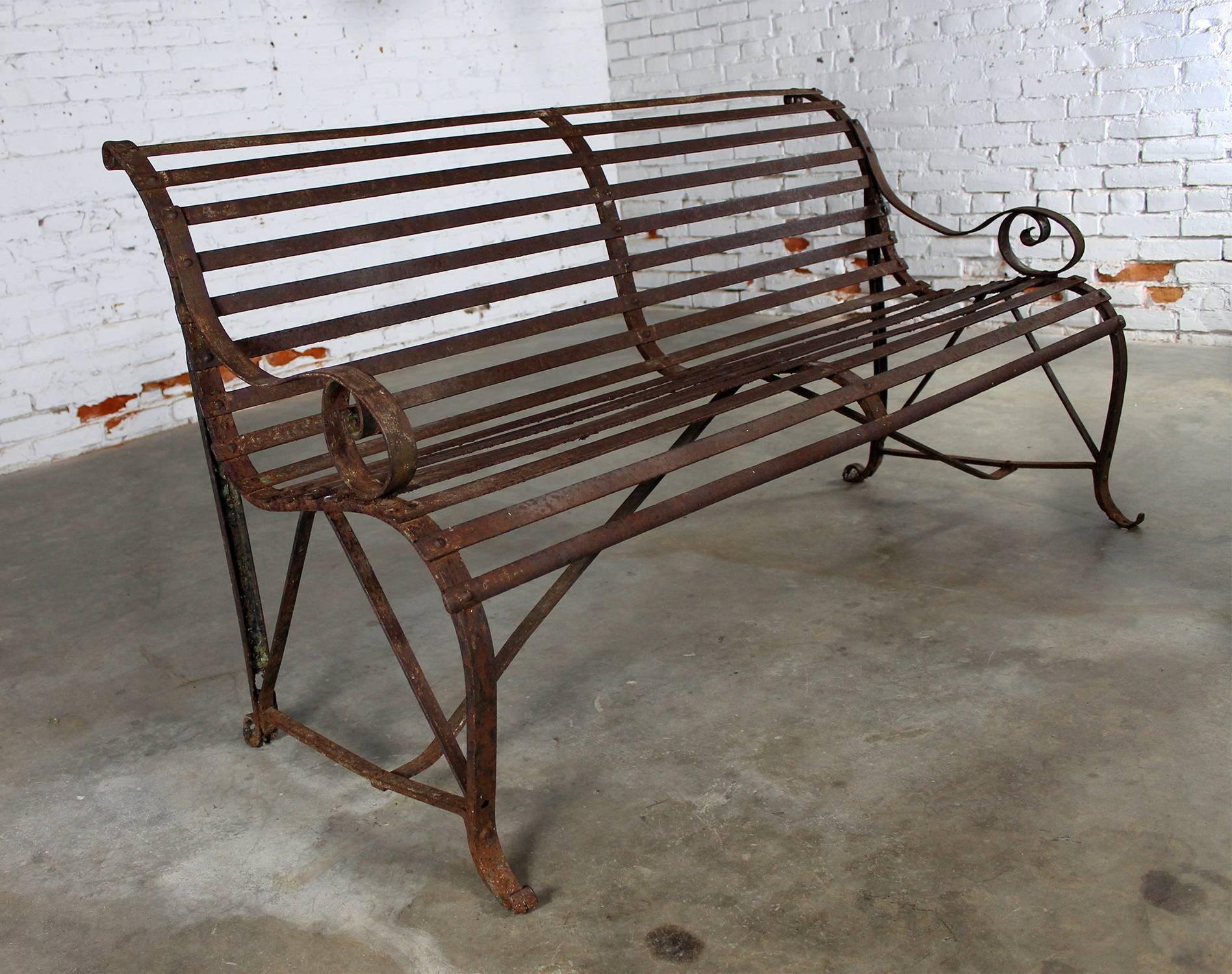 garden iron view design wrought image rustic french product bench larger rose