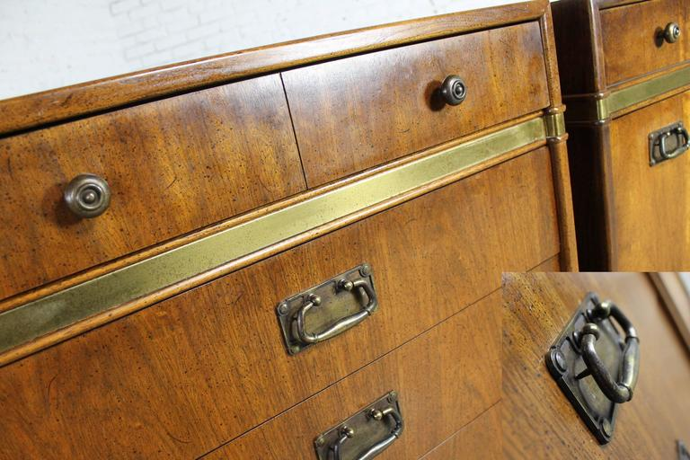 Hickory Manufacturing Co Pair Of Campaign Style Chests A