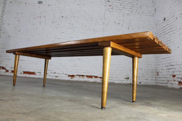 Yugoslavian Slatted Bench Coffee Table Vintage Mid-Century Modern 6