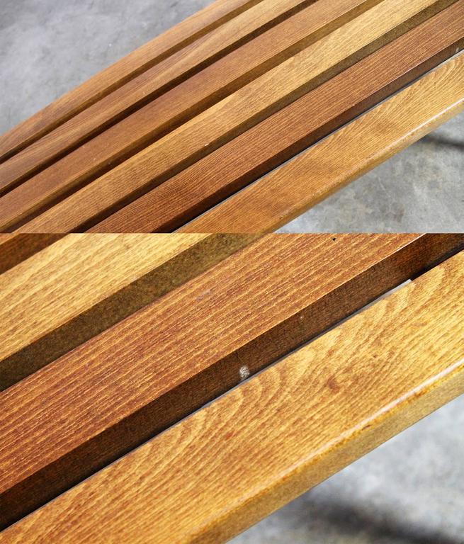 Yugoslavian Slatted Bench Coffee Table Vintage Mid-Century Modern 7