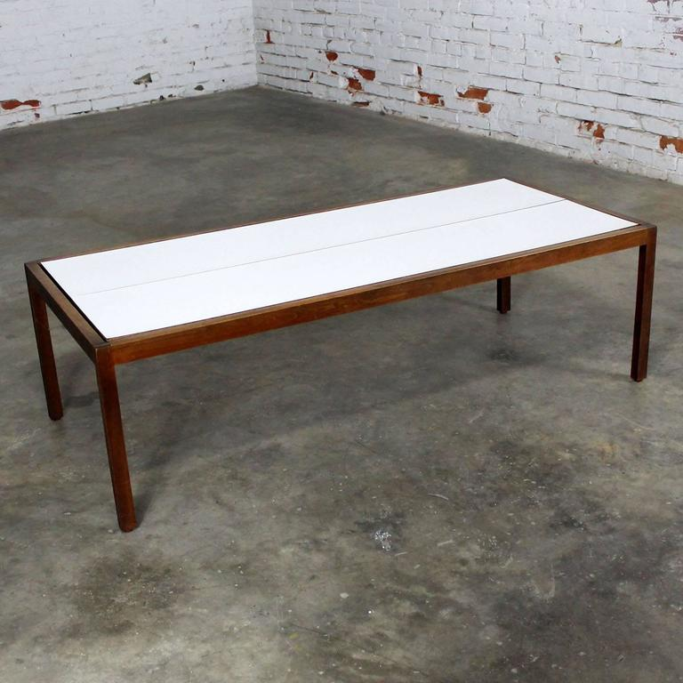 Knoll Walnut And White Laminate Lewis Butler Coffee Table