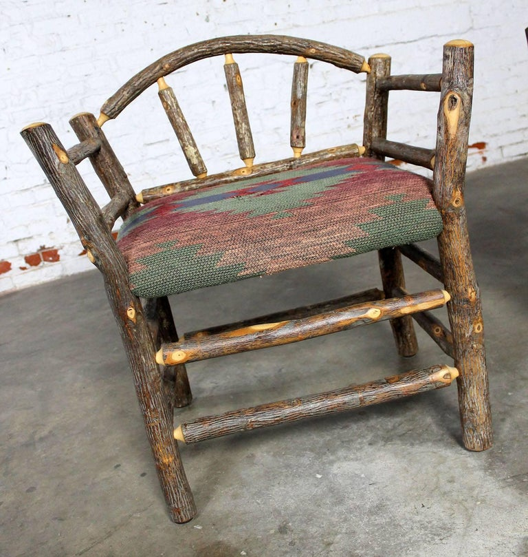 Old Hickory Style Rustic Hickory Dining Chairs With Arms