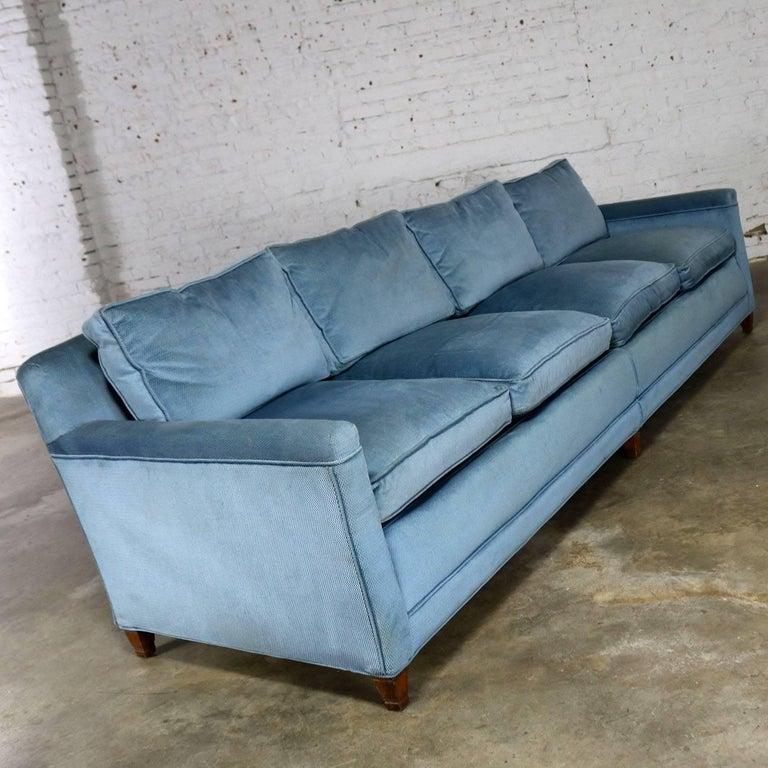 Powder Blue Lawson Style Four Cushion Sofa Vintage Mid