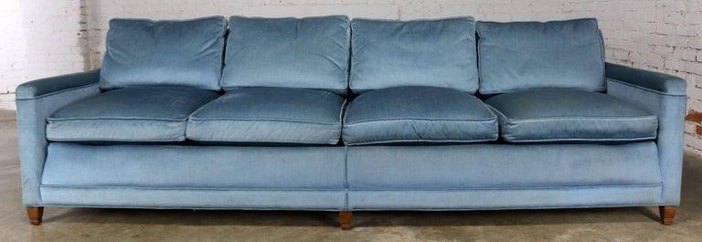 Powder Blue Lawson Style Four Cushion Sofa Vintage Mid Century