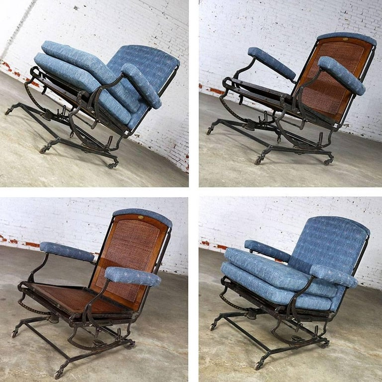 Antique adjustable folding Campaign style invalid chair or deck chair by the Marks Adjustable Chair Co. This circa late 19th Century chair is in fabulous antique condition and ready to use.