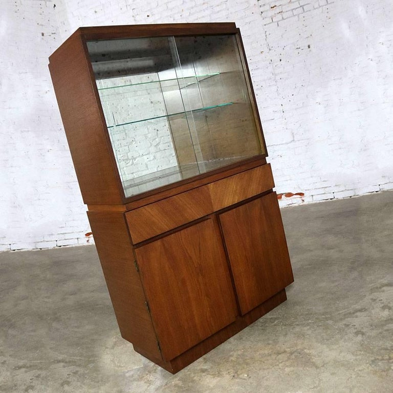Architectural Modern China Cabinet By Morris Of California