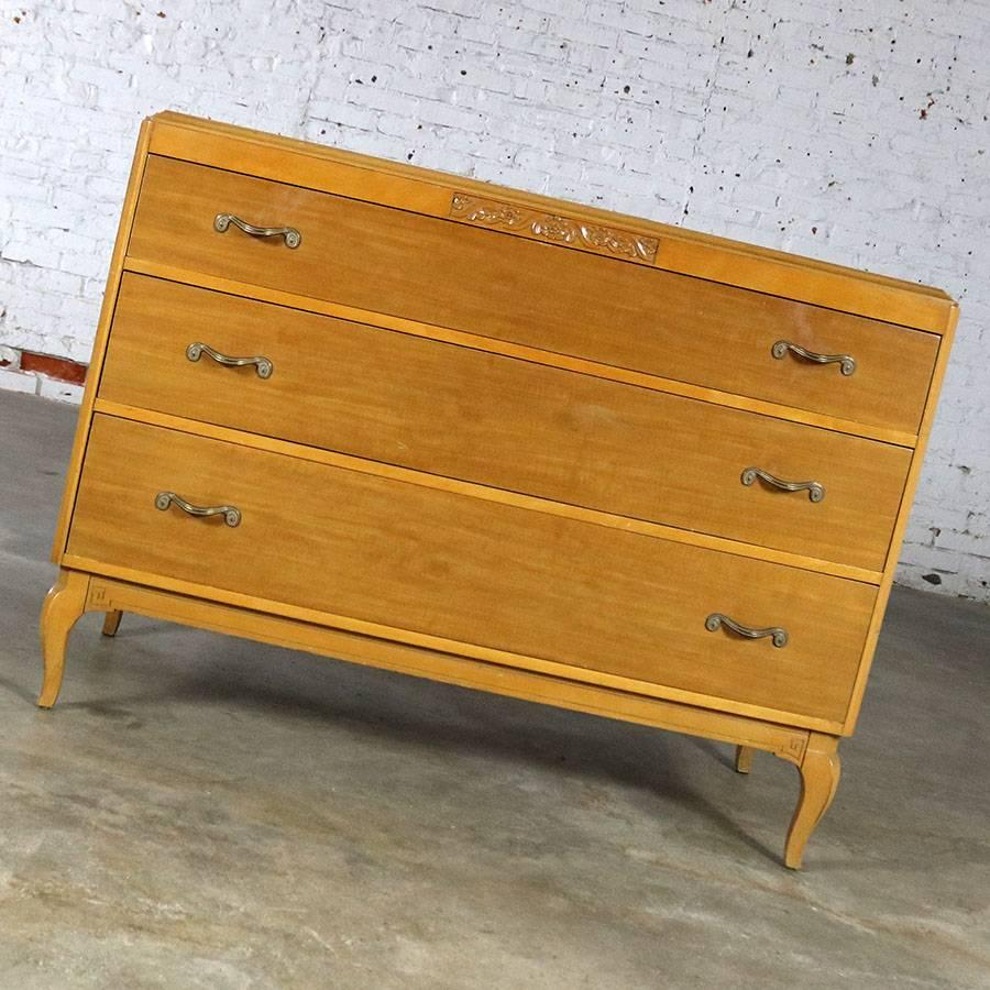 Beautiful Art Deco Style Low Dresser Or Chest Of Drawers Made By The Rway  Northern Furniture