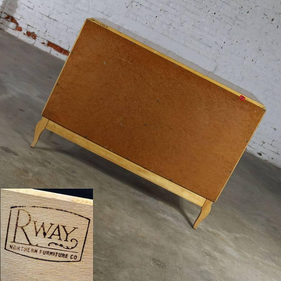 Mahogany Art Deco Style Low Dresser By RWAY Northern Furniture Company Of  Sheboygan For Sale
