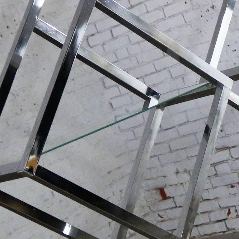 Modernist Geometric Diamond Shaped Chrome Étagère Attributed to Milo Baughman For Sale 2
