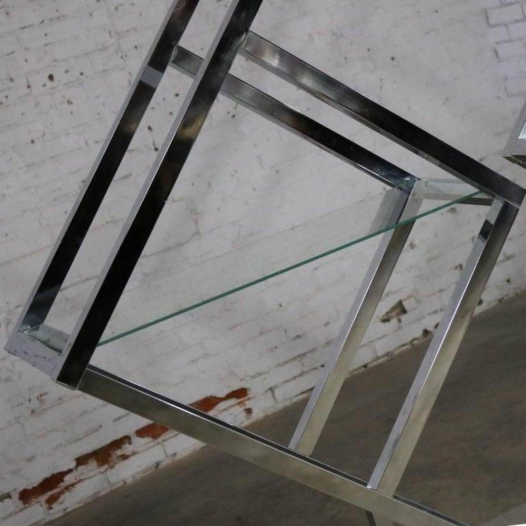Modernist Geometric Diamond Shaped Chrome Étagère Attributed to Milo Baughman For Sale 3