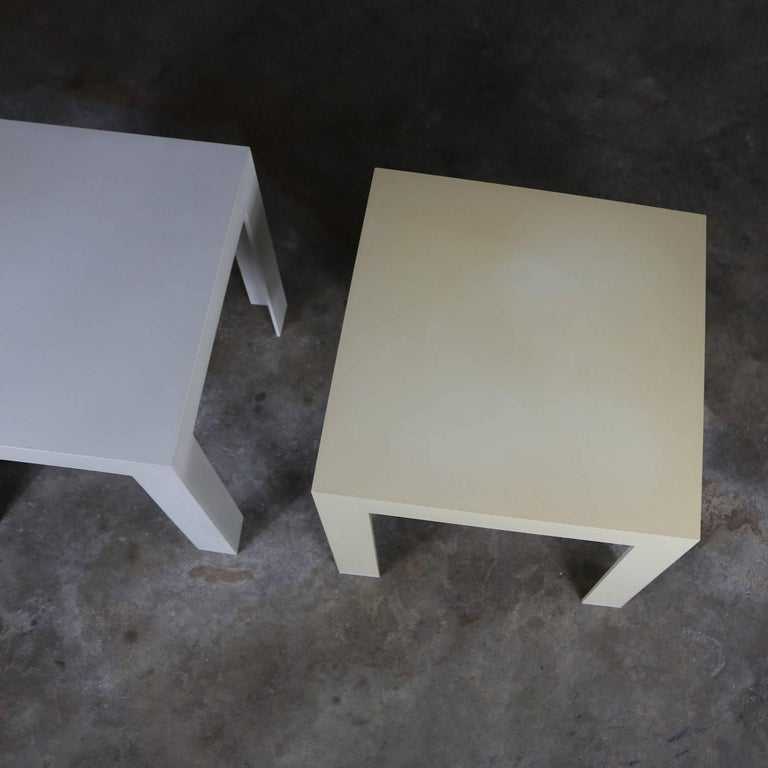 Syroco Parsons Tables White And Ivory Plastic Mid Century