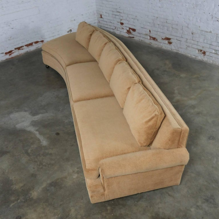 Mid-Century Modern Extra Long Curved Single Arm Sofa Style of Harvey Probber For Sale
