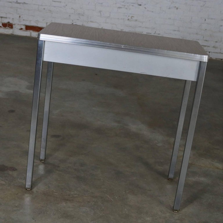 20th Century Art Deco Machine Age Streamline Moderne Table Desk by Royal Metal Manufacturing For Sale