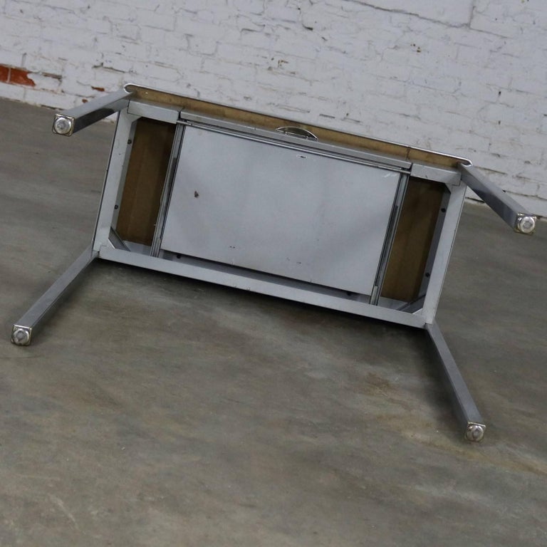 Art Deco Machine Age Streamline Moderne Table Desk by Royal Metal Manufacturing For Sale 1