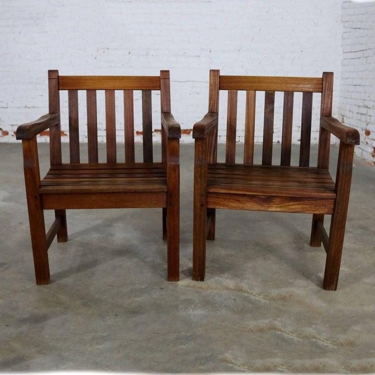 Vintage Windsor Natural Teak Outdoor Armchair For Sale at ...