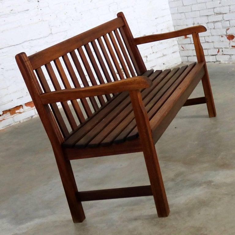 Loft Bench Seat Natural: Vintage Windsor Natural Teak Outdoor Three-Seat Bench At