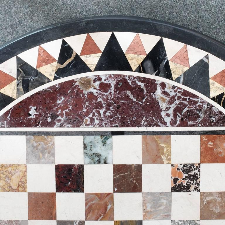 19th Century Italian Pietra Dura Specimen Marble Chess Board Tabletop 3