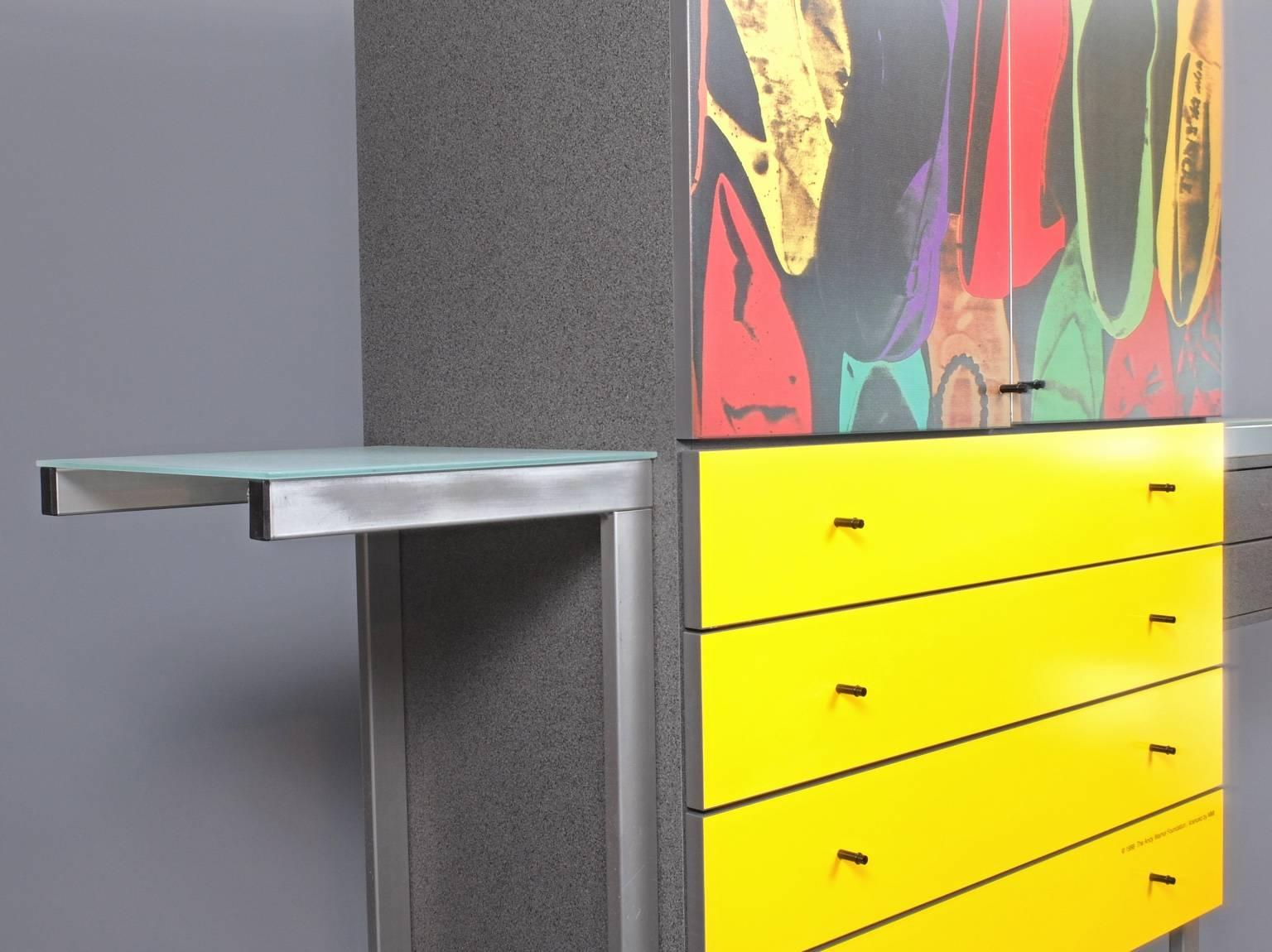 Andy Warhol Shoes Pop Art Cabinet at 1stdibs
