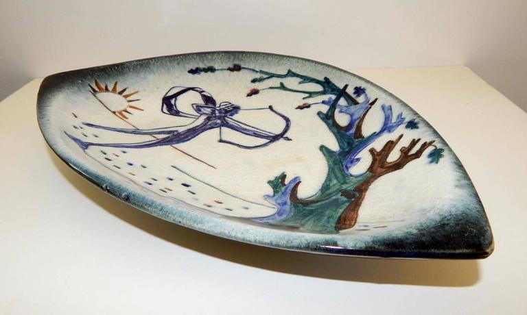 Stonelain Hand Decorated Ceramic Tray Circa 1940s 1950s