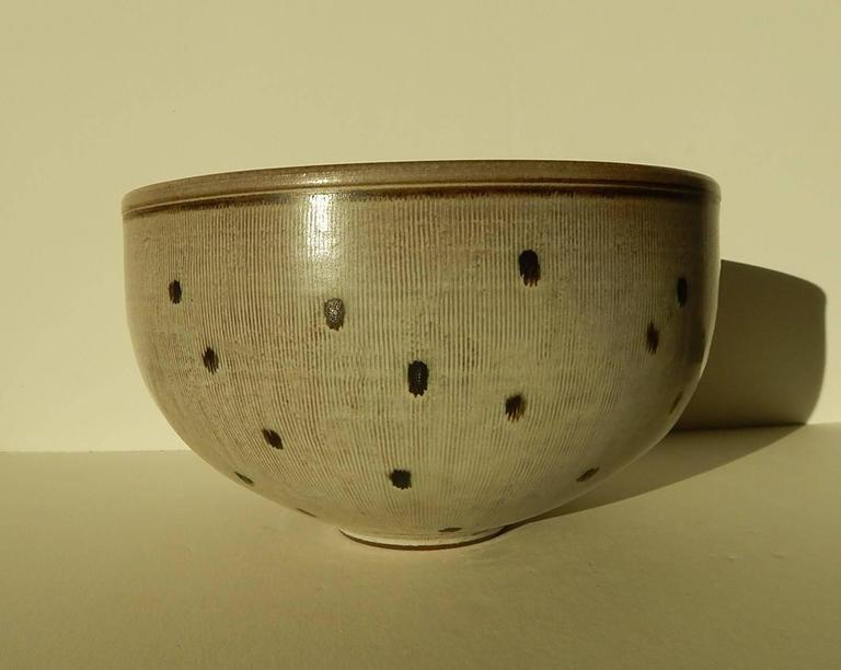 Mid-Century Modern Rupert Deese Studio Ceramic Bowl, Fine Example