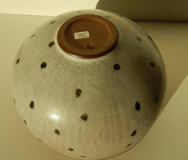 American Rupert Deese Studio Ceramic Bowl, Fine Example