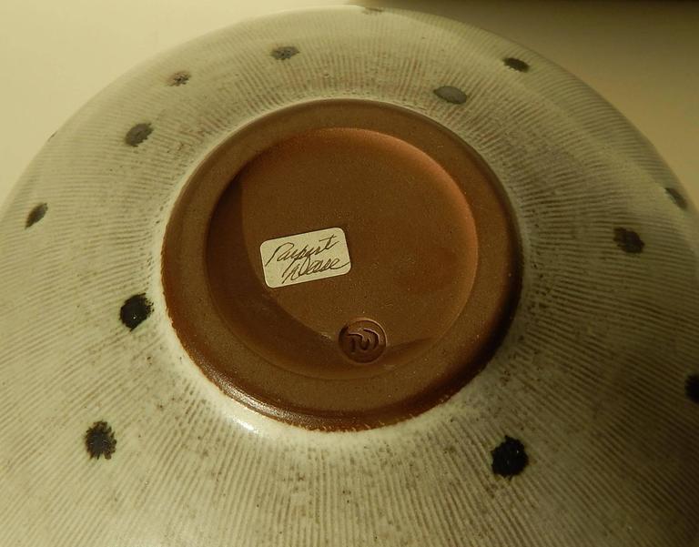 Rupert Deese Studio Ceramic Bowl, Fine Example In Excellent Condition In Phoenix, AZ