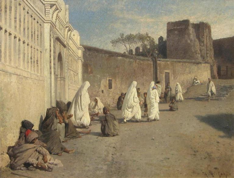 Hermann Herzog (1832-1932) orientalist oil on canvas, circa 1900 Image Measures: 22