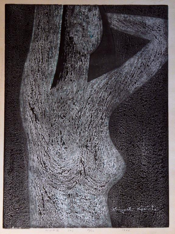 Kiyoshi Saito 1907 1997 Color Woodblock Print 1977 Titled In Lower Center