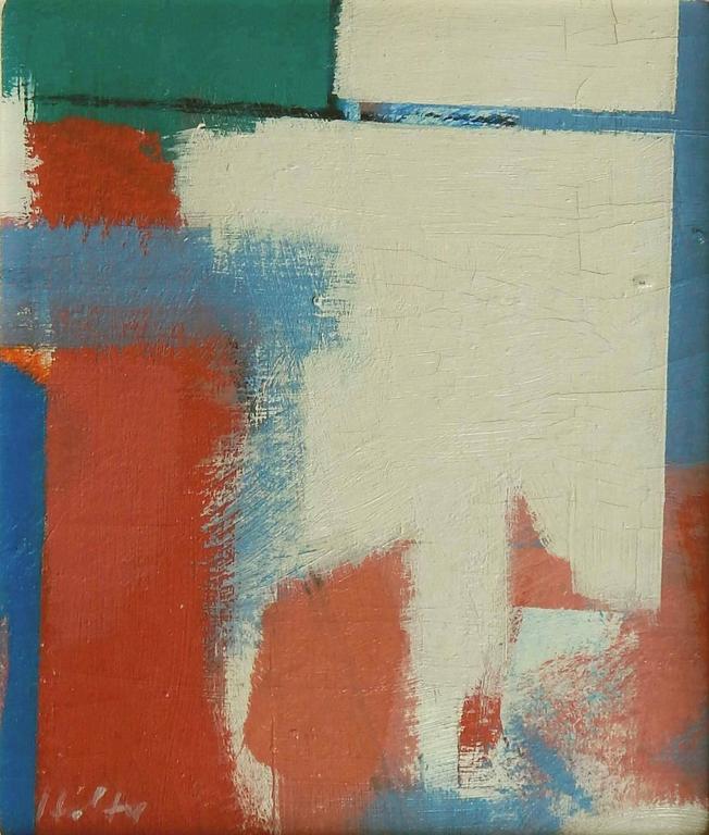 Carl Holty (1900-1973) oil on board, framed. Signed lower left