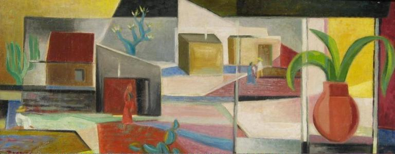 Werner Drewes (1899-1985) oil on canvas, 1947