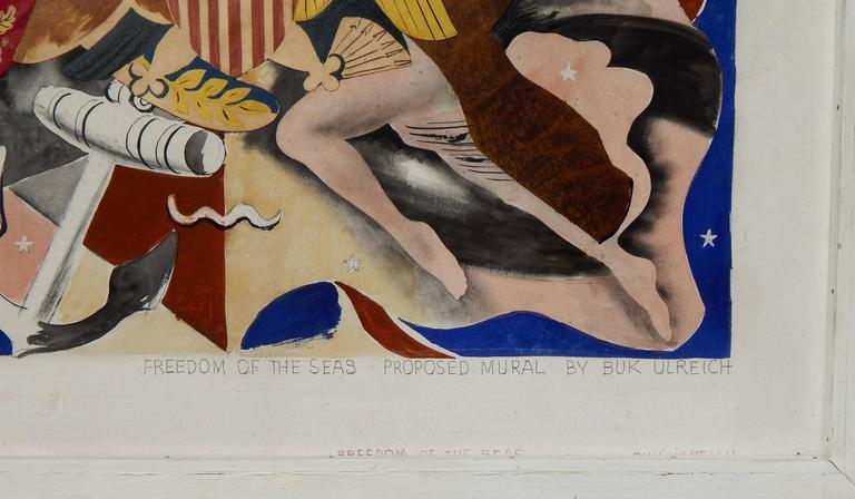 Eduard Buk Ulreich (1899-1966) mix-media on panel, 1940s