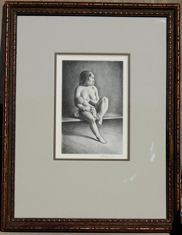 Rockwell Kent (1882-1971) original stone lithograph.