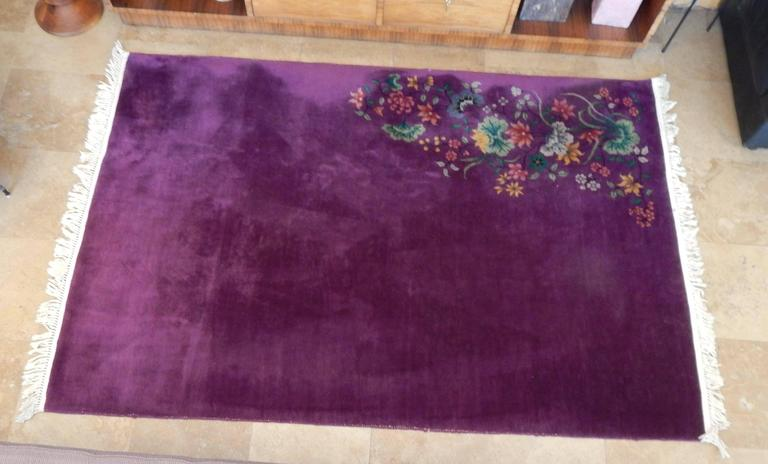 20th Century Art Deco Chinese Rug With Rich Color And