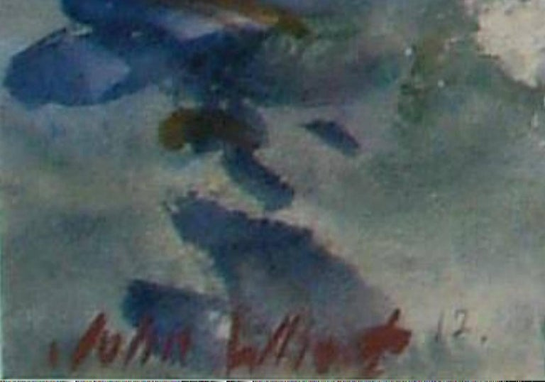 Painted John Whorf Watercolor, Morning, Barbados For Sale