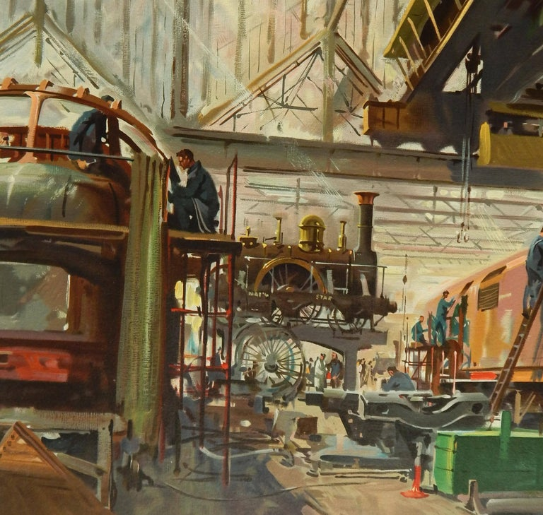 Paper Terence Cuneo British Railway Poster, Original Vintage Lithograph, 1957-1958 For Sale
