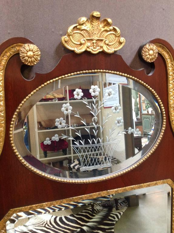 Pair of Mahogany Baker Mirrors from the Stately Homes Collection 7