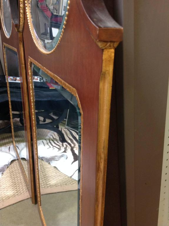 Pair of Mahogany Baker Mirrors from the Stately Homes Collection 4
