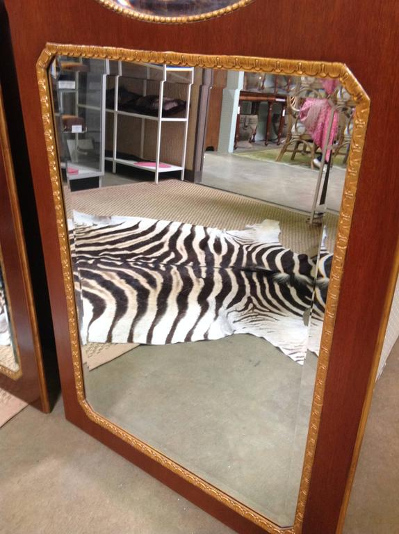 Pair of Mahogany Baker Mirrors from the Stately Homes Collection 6