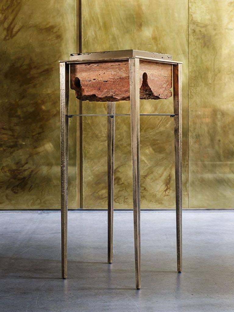 Cremino Console Hand-Crafted by Gianluca Pacchioni In New Condition For Sale In New York, NY