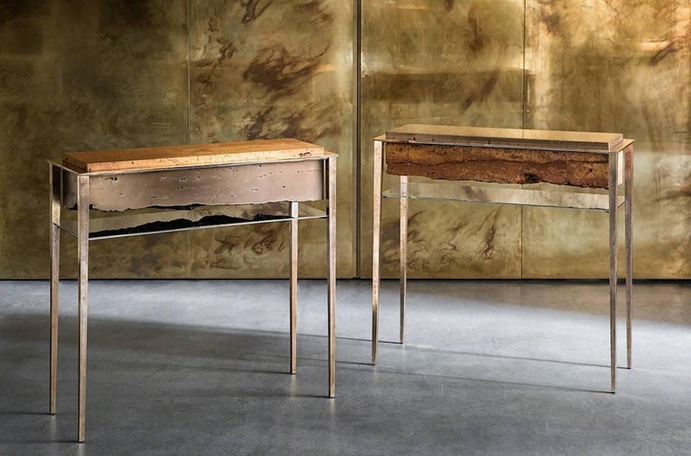 Cast Cremino Console Hand-Crafted by Gianluca Pacchioni For Sale