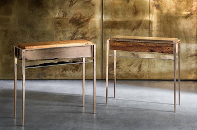 Contemporary Cremino Console Hand-Crafted by Gianluca Pacchioni For Sale