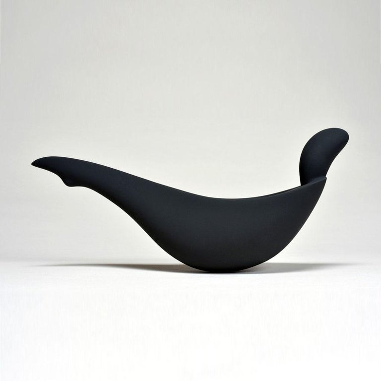 Modern Artefact by Aldo Bakker for Sèvres 'Black Bisque Porcelain' For Sale