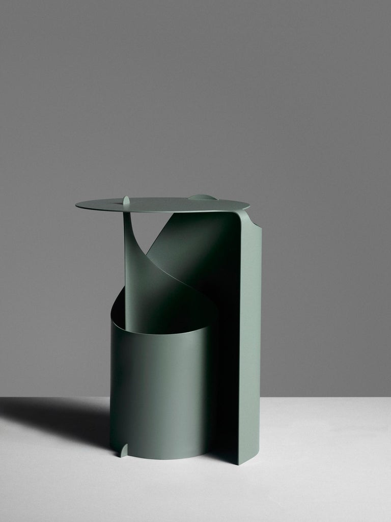 Modern Aldo Bakker Side Table Green Karakter Coppenhagen Editions For Sale
