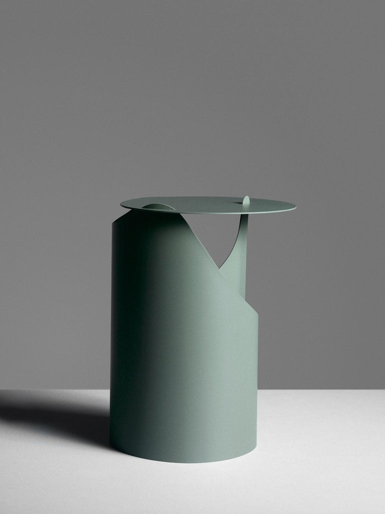 Painted Aldo Bakker Side Table Green Karakter Coppenhagen Editions For Sale