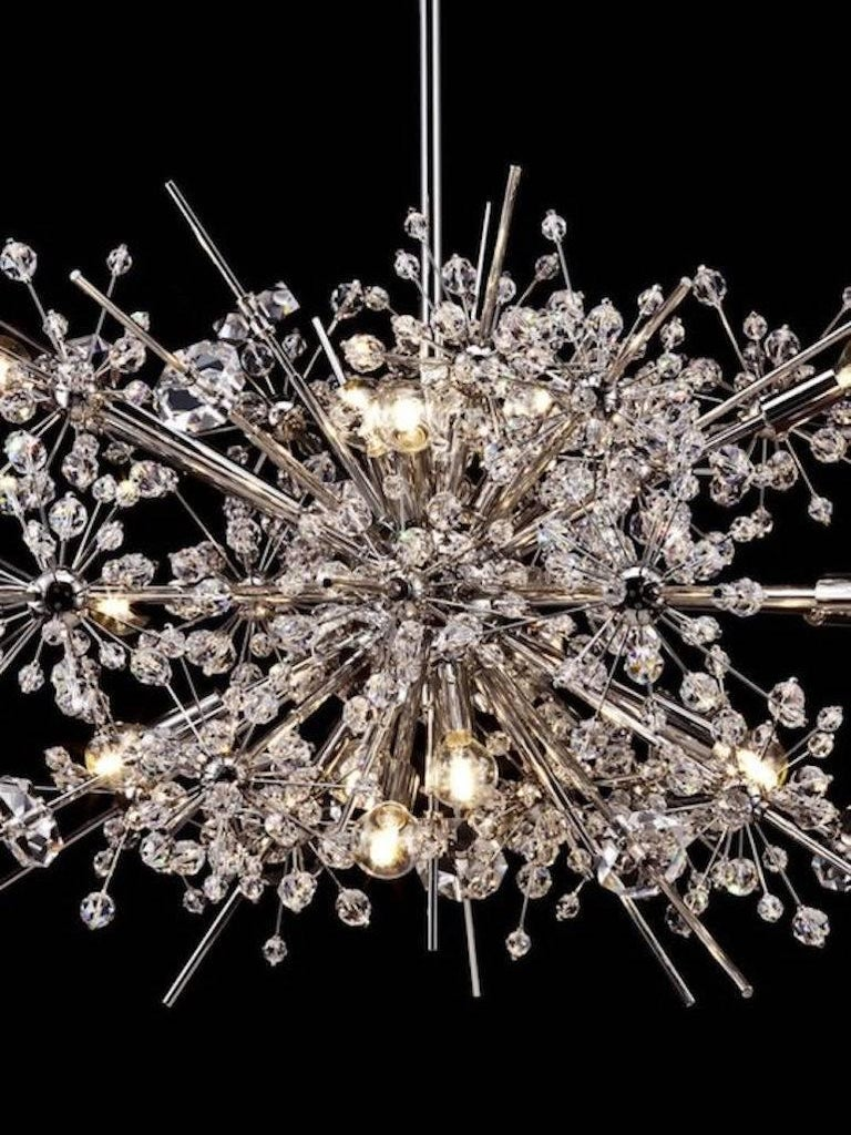 Hand-Carved Lobmeyr Metropolitan Opera Crystal Chandelier Foyer L36, Mid-Century Modern For Sale