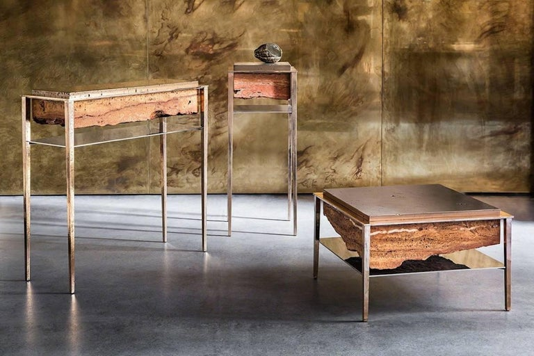 Cast Cremino Coffee Table Handcrafted by Gianluca Pacchioni For Sale
