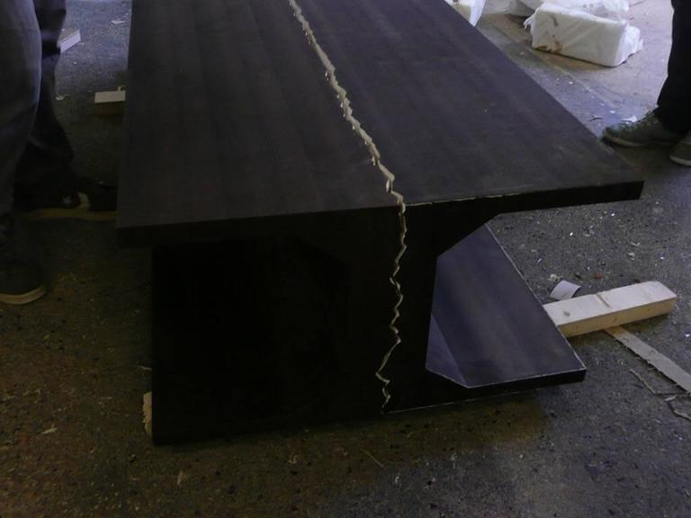 Contemporary Limited Edition Dining Table by Thierry Dreyfus, Walnut or Black Lacquer For Sale