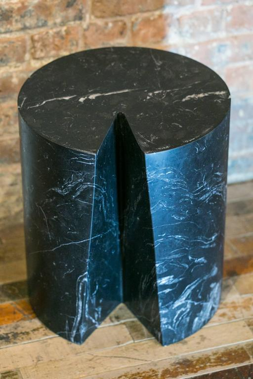 Paris based artist, Michel Amar creates a limited series of marble accent table as a sleek, playful and elegant reference to the natural wood log. Amar collaborates with French marble manufacturer, Les Marbreries de la Seine in Paris and proposes
