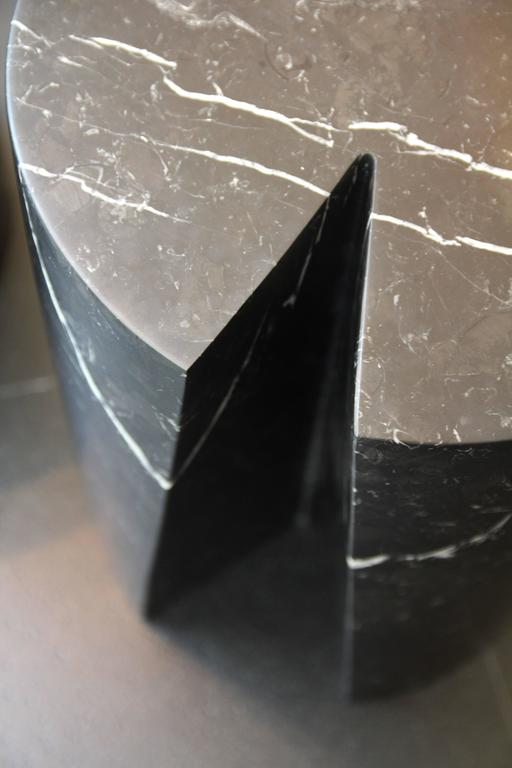 French Accent Table, Black Marble Bûche by Michel Amar Limited Edition 50 For Sale